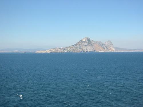 Die Durchfahrt bei Gibraltar