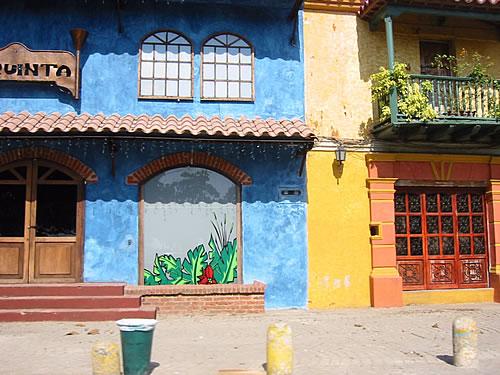 Typisch karibische Häuser