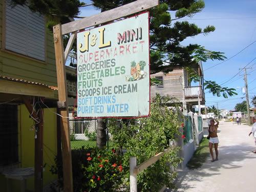 Ein karibischer Supermarkt