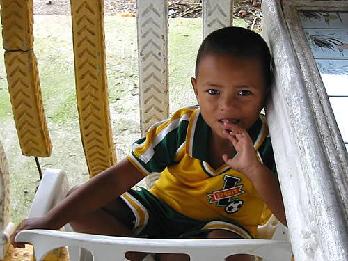 Junger Fußball-Fan in Honduras