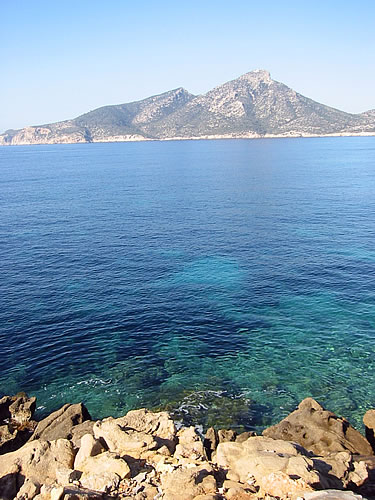 Blick auf's Mittelmeer im Südwesten Mallorcas