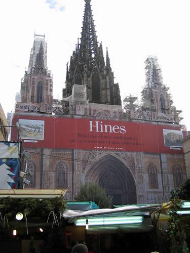 Die Kathedrale La Seu wird im Moment renoviert