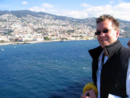 während wir in Funchal einlaufen.
