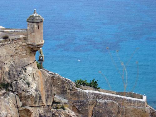 Ausblick von der Festung in Alicante