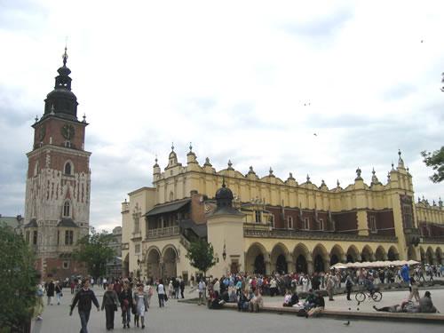 Der Marktplatz von Krakau (Rynek Glówny)