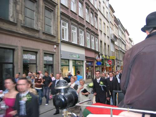 Straßenszene in Krakaus Altstadt