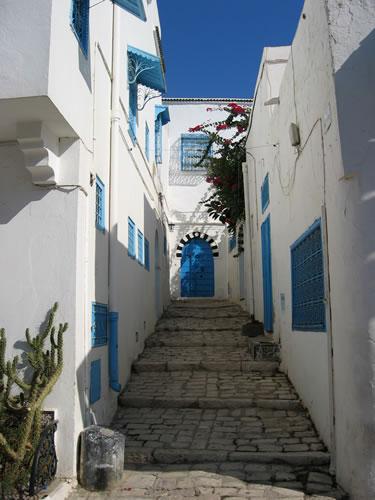 Kleine Gasse in Sidi Bou Saïd