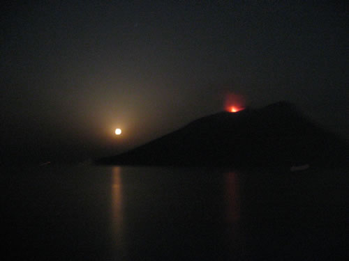 Eruption des Vulkans Stromboli
