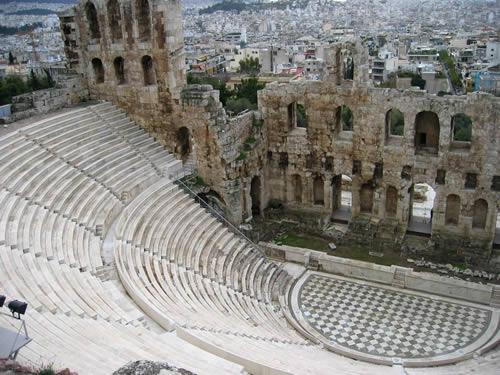 Das Odeon des Herodes Attikus