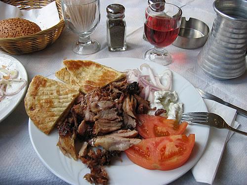 Typisch griechisches Gyros