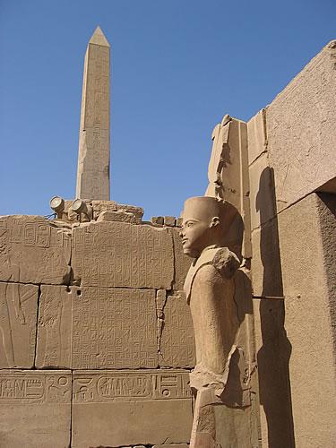 In der Tempelanlage von Karnak