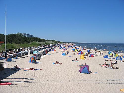 Der Strand des Ostseebads Zinnowitz