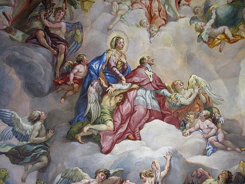 Fresken an der Decke der Karlskirche