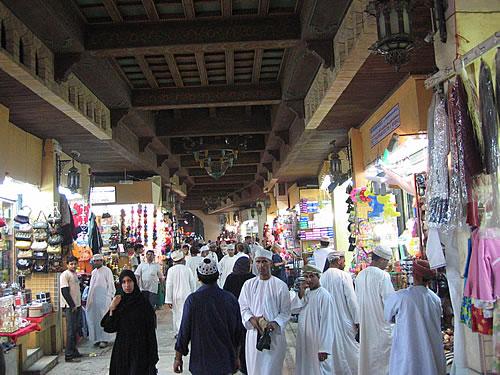 Im Old Muttrah Souk in Muscat im Oman