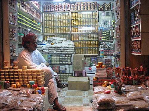 Weihrauchverkäufer in Muscat im Oman