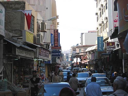 Typisch arabischer Souk in Manama in Bahrain