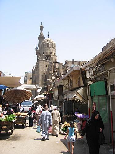 Markt im islamischen Viertel in Kairos
