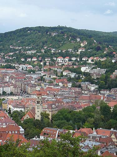 Blick von der Schillerhöhe auf Stuttgart