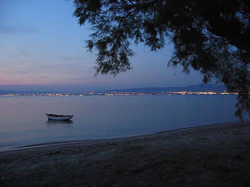 Blick über den Thermäischen Golf auf Thessaloniki