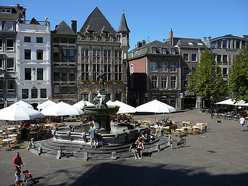 Der Marktplatz von Aachen