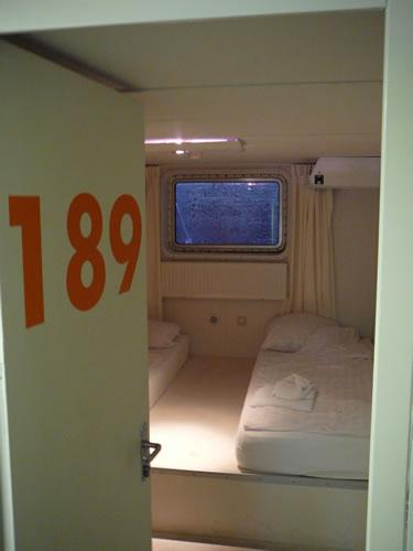Meine Unterkunft für die nächsten vier Tage ist Kabine 189
