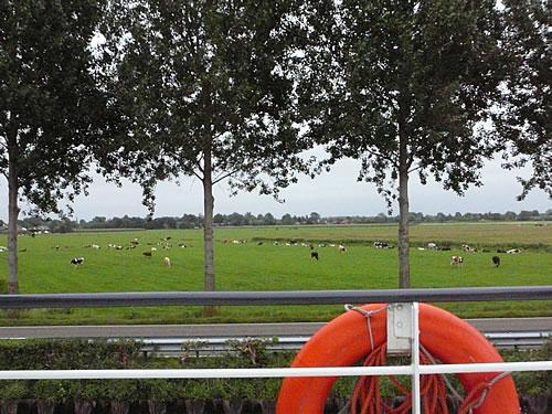 und lassen die Landschaft der Niederlande an uns vorrüber ziehen