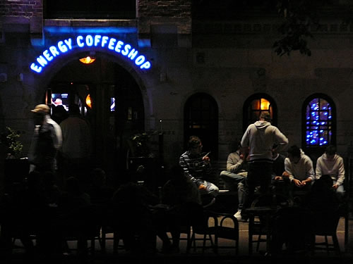 Coffeeshop im Amsterdamer Rotlichtviertel
