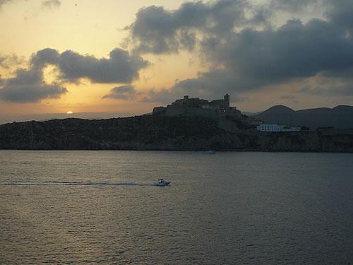 Sonnenuntergang über Ibiza