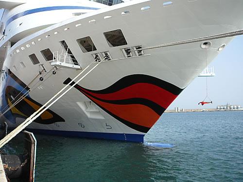 Die AIDAaura im Hafen