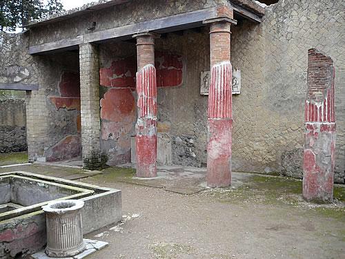 Das Haus des Telephos-Reliefs, die zweitgrößte Villa der Stadt
