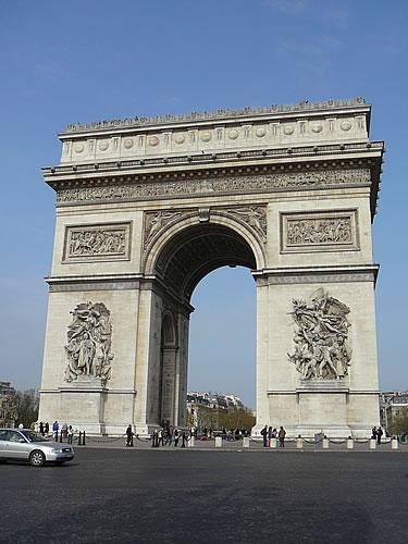 Der Arc de Triomphe in Paris