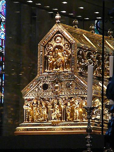 Der Dreikönigsschrein mit den Reliquien der Heiligen Drei Könige