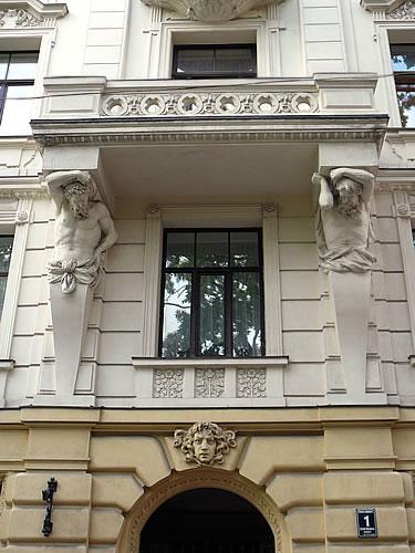Jugenstil-Fassade in der Neustadt