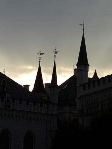 Als es langsam Abend wird in Riga