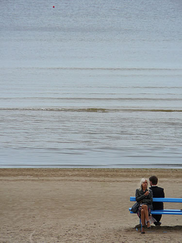 Am Strand von Jūrmala