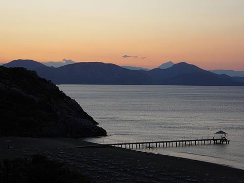 Sonnenuntergang über der türkischen Ägäis