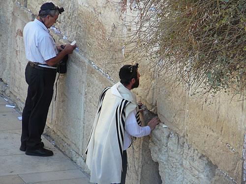 Betende Juden vor der Klagemauer