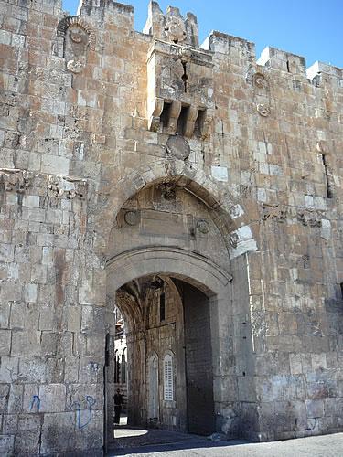 Das Löwentor, vor dem der Märtyrer Stephanus gesteinigt wurde