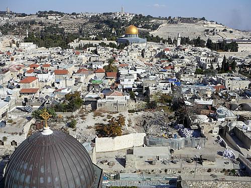 Aussicht über Jerusalem vom Turm der Erlöserkirche