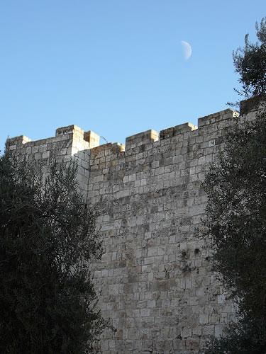 Die Stadtmauern von Jerusalems
