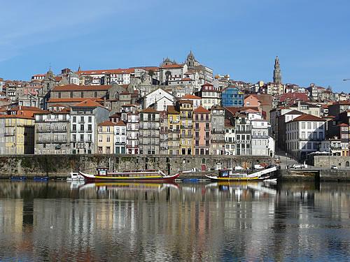 Postkartenblick auf Porto