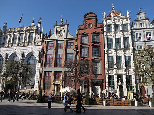 Häuserfassaden auf dem Langen Markt