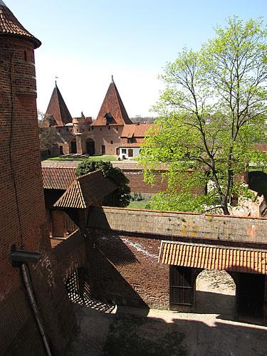 Blick über das Burgensemble Marienburg