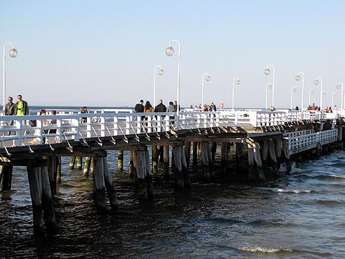 Zu einem Besuch in Zoppot gehört ein Spaziergang über die 512 m in die Ostsee ragende Mole