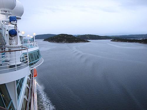 Fahrt duch den Oslofjord