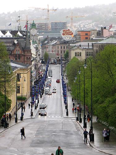 """Die Promenade """"Karl Johans gate"""""""