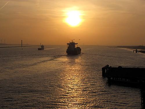 Sonnenuntergang in Hoek van Holland