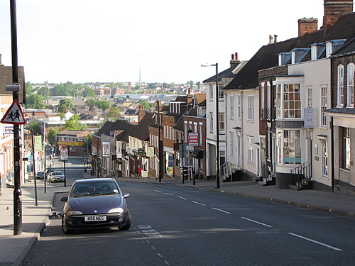 Straßenzug in Colchester in der englischen Grafschaft Essex