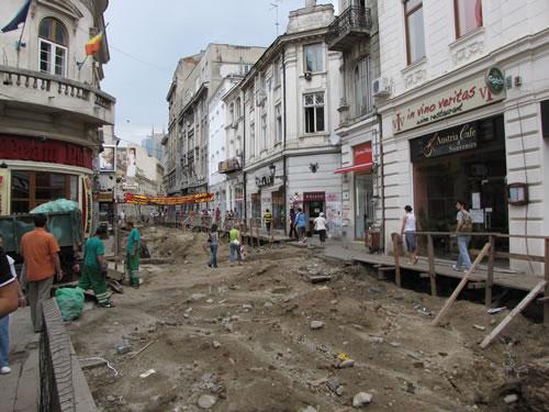 Das Leipziger Viertel wird zur Zeit restauriert