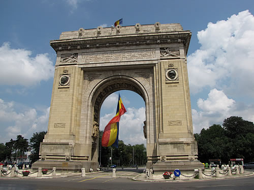 Der Triumphbogen in Bukarest